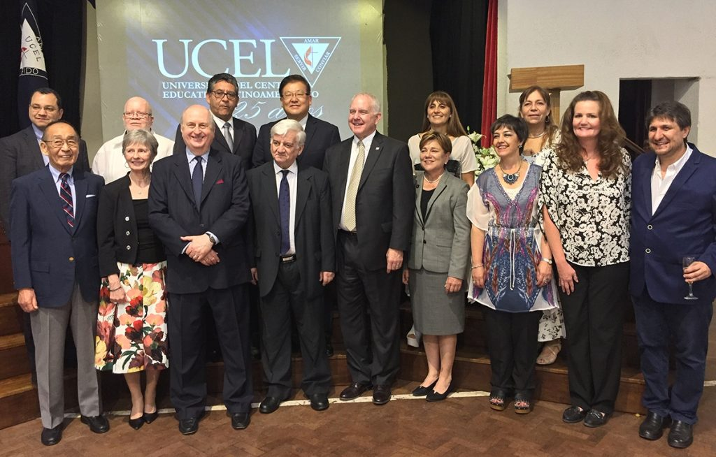 IAMSCU and UCEL board members at the 25th anniversary celebration in Argentina.