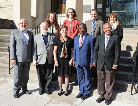 (L-R) First Row: Dr. Paulo Garcia, Rev. Dr. Jamisse Taimo, Rev. Dr. Kim Cape, Dr. Yed Angoran and Rev. Dr. Stephen Hendricks. (L-R) Second Row: Kimberly Lord, Mary Hix, Dr. Amos Nascimento and Lic. Claudia Lombardo.
