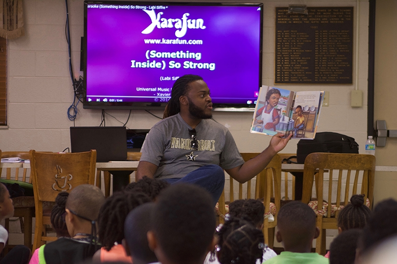 "Luther Young, a third-year student at Vanderbilt Divinity School, has spent the past two summer mentoring elementary school children at the Freedom School at Clark Memorial UMC in Nashville. ""I have learned that becoming pastor means becoming more aware of what my community needs and how God is calling me to be present in the lives of people who are struggling,"" says Young."