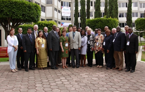 IAMSCU Board of Directors met before the opening ceremony