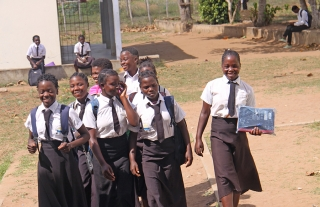 Students at Cambine High School (Cambine Mission Station)