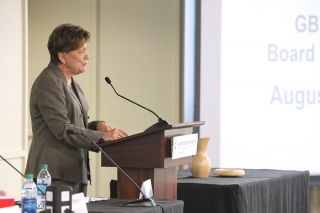 Rev. Dr. Kim Cape, general secretary at GBHEM delivered the State of the Board Address