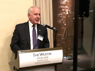 Rev. Dr. Thomas Wolfe, president of Iliff Theological Seminary, spoke to NASCUMC members about the historical relationship of The United Methodist Church to its schools, colleges, and universities.