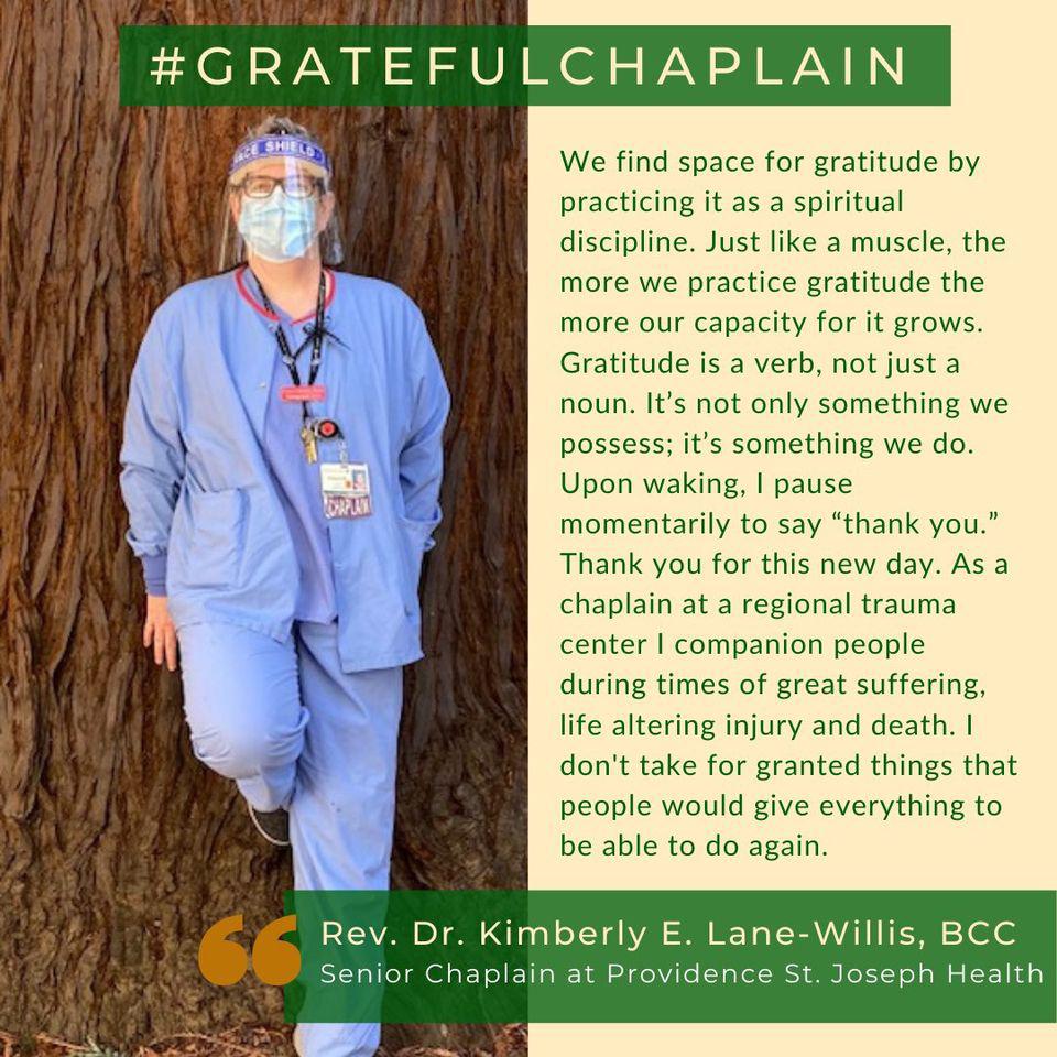 Grateful Chaplain - Rev. Dr. Kimberly E. Lane-Willis