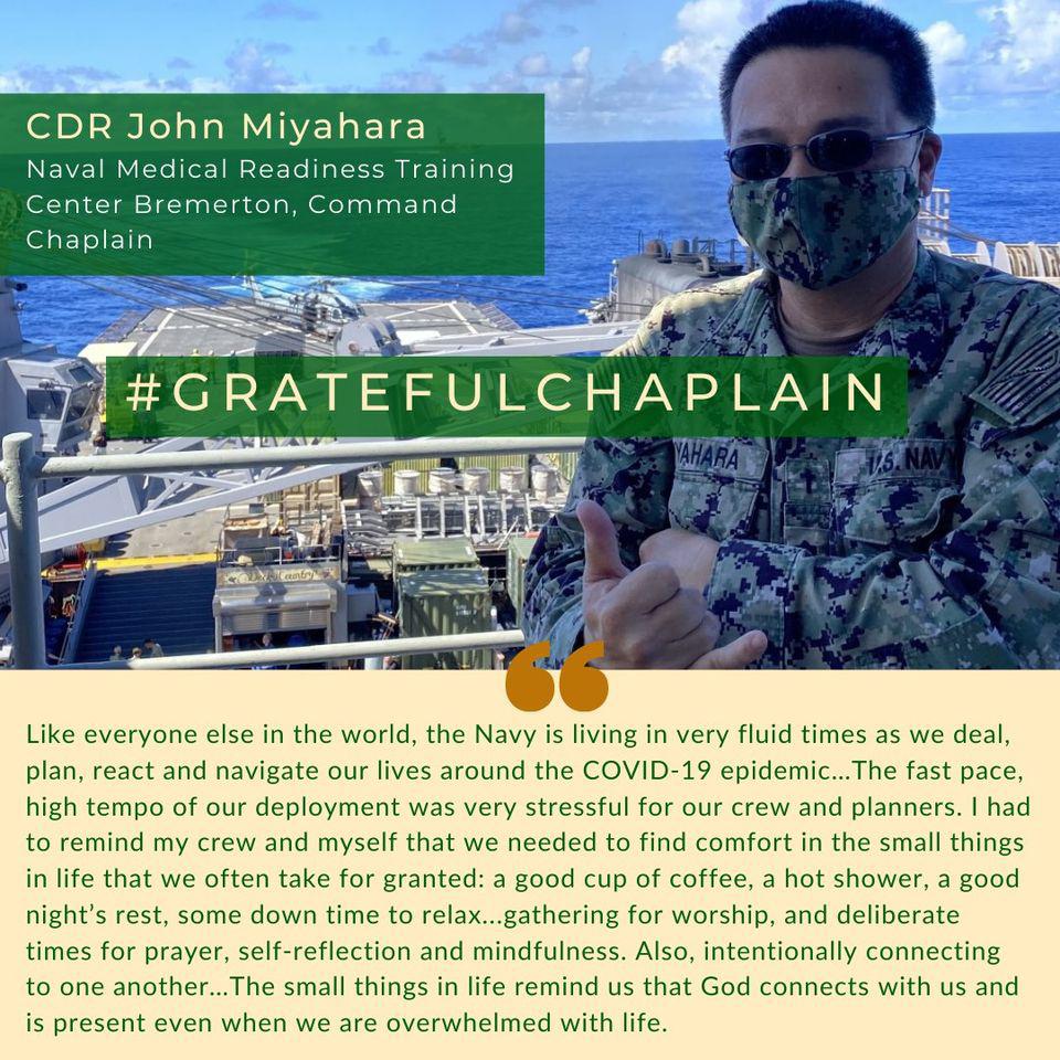 Grateful Chaplain - CDR John Miyahara